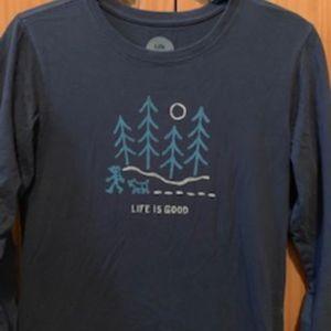 Life is good long sleeve t-shirt